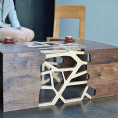 """Studio """"Gradient Matters"""" branches out with this table #furniture #industrialdesign #woodwork #table #oddspire"""