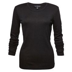 e1a70c7fd08 Dannii Minogue Petites Long Sleeve T-Shirt Black Target Australia ( 15) ❤  liked