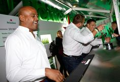 Jonah Lomu Photos - Heineken Rugby Legends (L-R) Jonah Lomu, Scott Quinnell and John Smit open Rugby World Cup 2015 at Somerset House to celebrate Heineken's campaign #ItsYourCall on August 26, 2015 in London, England. - Heineken #ItsYourCall Launch