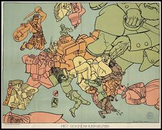 Humoristic Map WW I