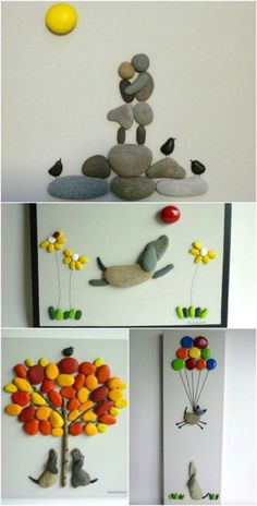 Cool DIY Idea: Painting out of River Pebbles | Home Design, Garden & Architecture Blog Magazine