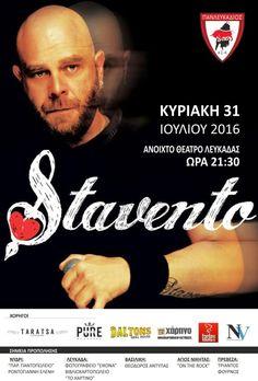 Ο Stavento για τον Πανλευκάδιο στις 31/07/2016 στο Ανοιχτό Θέατρο.