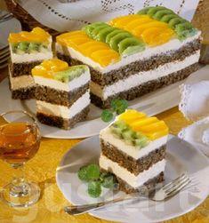 Lajos Mari konyhája - Mákos-túrós- gyümölcsös kocka Poppy Cake, Cheesecake, Clean Eating, Recipes, Food, Sweets, Bakken, Gifts, Eat Healthy