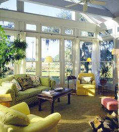 Decorating with Yellows & Green home green yellow decorate chairs couch windows decorating ideas living room