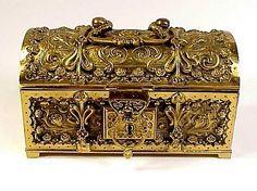 Art Nouveau Grand Tour Bronze Jewelry Box