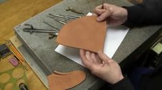 Leather Carving for Beginners Leathercraft Tutorial How to Draw and Tran...