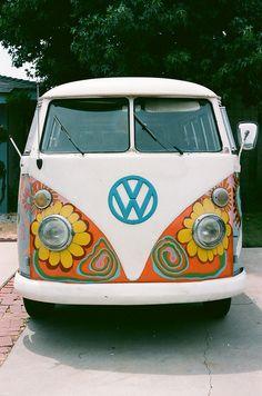 Flowers VW Bus