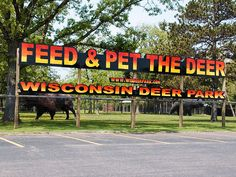 A animal farm, zoo in the Wisconsin Dells, WI. Pet the deer.
