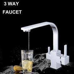 Kitchen Faucet Mixer Chrome Finished Water Filter Ro Faucet 3 Way Water Tap  Black Three Colors