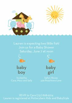 baby shower invitations/fish | kind born tomom to wait until the baby clothesline baby