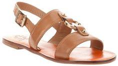 Tory Burch 'Fletcher' flat sandal.