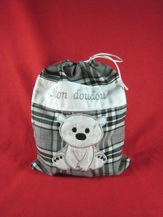 Sac à doudou personnalisé Creations, Clothes Crafts, Softies, Bags