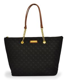 Look at this Adrienne Vittadini Black Quilted Tote on #zulily today!