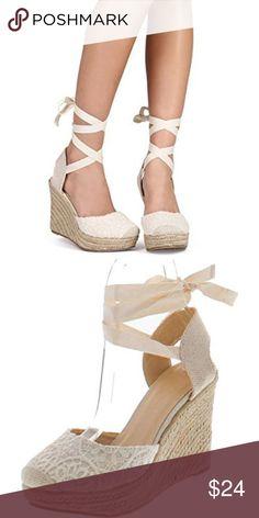 c5048d0b9e04 Wild Diva | Maegan Wedge Floral crochet ankle sling back wedge from Wild  Diva. 4