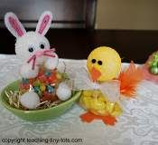 Jelly Bean Bunny and Lemon Drop Chick