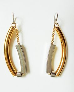 The Gold Bar None Earring by JewelMint.com, $50.00