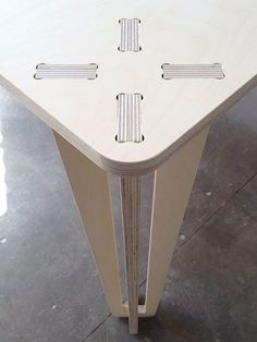 Gorgeous cnc table with plywood legs: