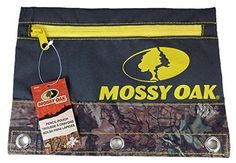 Signature Products Group Mossy Oak Brand Camo 3-ring Pencil Pouch Yellow Zipper #SignatureProductsGroup