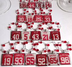 Detroit Red Wings Wine Charms  Choose Your Set by TaylenandKatie