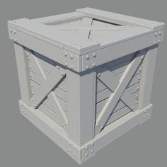 Wooden Crate High poly by HaagNDaaz on deviantART