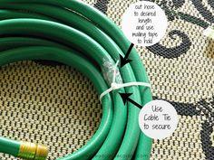 DIY: Garden Hose Wreath #recycle #organic #gardening