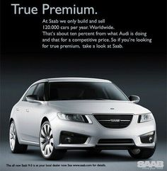 Official Saab Print Advertisement For The Saab 9-5