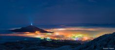 Photograph Pyatigorsk by Evgeny Trisko on Night City, City Life, Mount Everest, Mountains, Water, Pictures, Photography, Travel, Outdoor