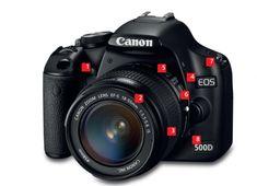 информация по строению  зеркального фотоаппарата и функциям кнопок камеры