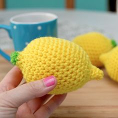 Crochet Lemon Stress Ball | AllFreeCrochet.com