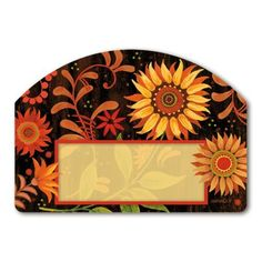 """Indian Summer Address Sign by MagnetWorks. $11.99. Vinyl coated for long lasting beauty.. Magnetic address sign measures 14"""" x 10"""".. Address plaques snap into place onto our Yard Stake.. Includes 2 sets of easy-to-apply self-adhesive address numbers.. Or display as hanging address sign using our Ornamental Address Post.. Decorate your lawn or garden with these interchangeable magnetic designs.  For use on Yard DeSigns ornamental post or yard stake.  Some styles include s..."""