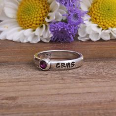 Custom Class Rings with Name, High School or College Class Year. Personalized Graduation Stack Ring with School Color. Great New Grad Gift! by NelleandLizzy on Etsy https://www.etsy.com/listing/231218441/custom-class-rings-with-name-high-school