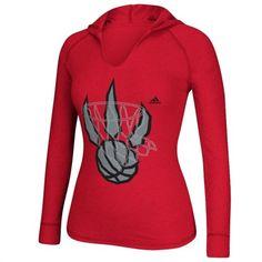 adidas Toronto Raptors Women's Red Hooded T-Shirt