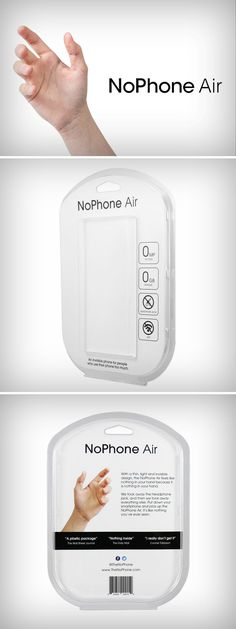 The NoPhone Air is built from the finest, military-grade...air!