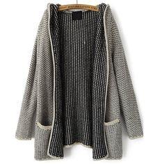 39,90EUR Cardigan mit Kapuze und aufgesetzten Taschen grau