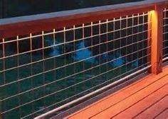 Residential Railing with Mesh Hog Panel: We are replacing our deck railing and screening in our back porch and are thinking of using industrial grade mesh panels for the railing. Will this meet