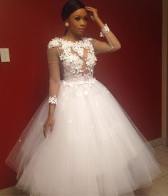 South African TV Personality Bonang Matheba Stuns In A Fashion Statement Dress - Wedding Digest Naija Wedding Dresses From China, Cheap Wedding Dress, Bridal Dresses, Wedding Gowns, Bridesmaid Dresses, Bridesmaids, Nice Dresses, Flower Girl Dresses, Dresses With Sleeves