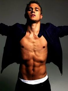 Charlie Hunnam. I want to have your bebehs.