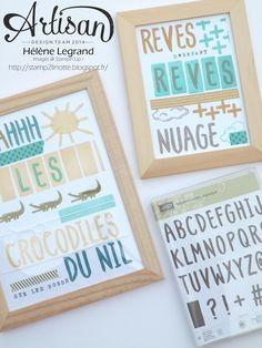 How use your Layered Letters Alphabet stamps set ? - Stamp 2 LiNotte - Hélène LEGRAND - Stampin'Up !
