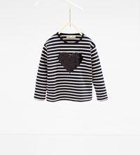 Striped heart sweatshirt