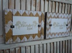 Wooden Wall Frames/set of 2/chevron/neutral/4x6 by thewoodedlane, $28.00