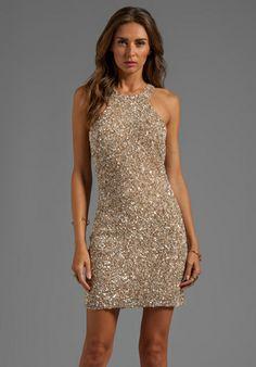 PARKER Mariah Sequin Dress in Nude