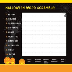 Wishing you a safe a happy Halloween from the World Center of Racing! Check out this word scramble activity for an extra dose of Halloween fun.