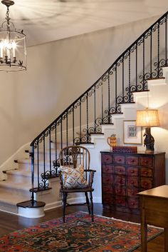 Kathy Hartz and I just completed the interior remodel for Style in 5 on this beautiful Spanish Revival Home. Spanish Revival Home, Modern Hallway, Contemporary Interior Design, Contemporary Kitchens, Staircase Design, Staircase Ideas, Best Interior, Portfolio Design, Entryway Decor