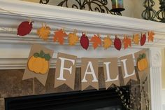 Your place to buy and sell all things handmade Thanksgiving Banner, Thanksgiving Projects, Thanksgiving Decorations, Fall Burlap Banner, Diy Banner, Fall Leaf Garland, Diy Garland, Halloween Banner, Fall Halloween