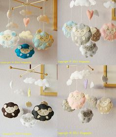 Baby Crib Mobile Baby Mobile Sweet Lambie Mobile by hingmade, $90.00