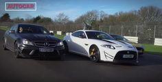 VIDEO: C63 AMG Black Series vs Jaguar XKR-S GT vs V12 Vantage S. #cars #videos #jaguar #mercedes