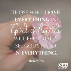 Is it time for you to leave everything in God's hands?