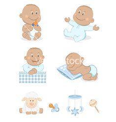 Baby boy with toys vector 783640 - by Teneresa on VectorStock®