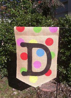 burlap garden flag - Google Search