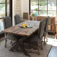 The Aurora Dining Table is the ideal hub for friends and family to enjoy a drink, share a story, and to have a good 'ol time. Rugged and beautiful, this table is highly functional with resounding styl